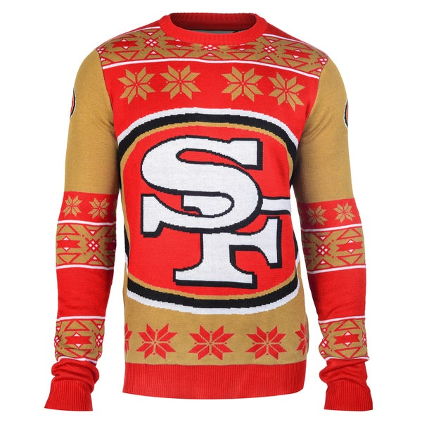 Forever Collectibles NFL San Francisco 49ers Big Logo Crew Neck Ugly Sweater