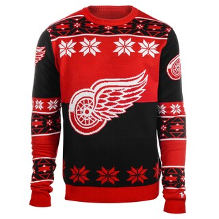 Forever Collectibles NHL Detroit Red Wings Big Logo Crew Neck Ugly Sweater