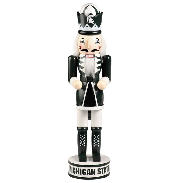 Forever Collectibles Michigan State Spartans 14-inch Collectible Nutcracker