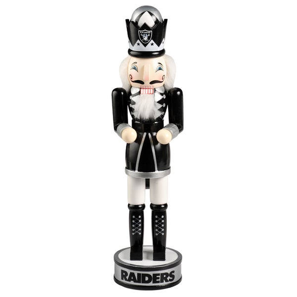 Forever Collectibles NFL Oakland Raiders 14-inch Collectible Nutcracker