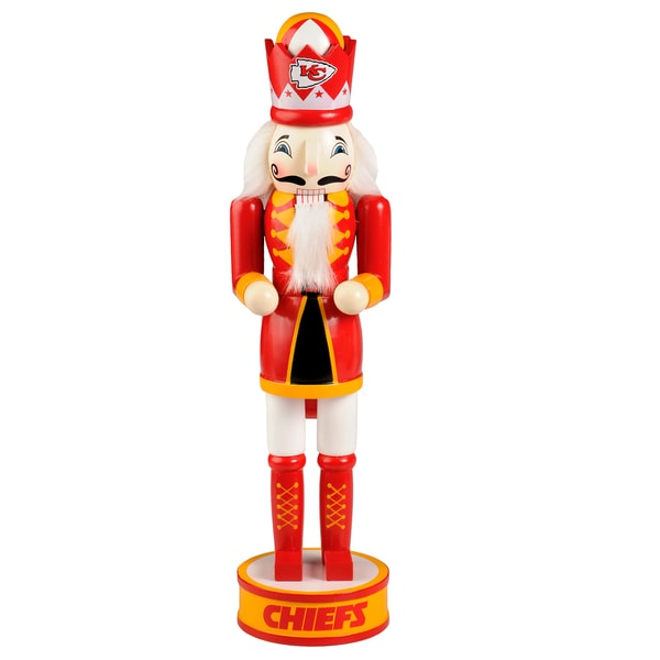 Forever Collectibles NFL Kansas City Chiefs 14-inch Collectible Nutcracker