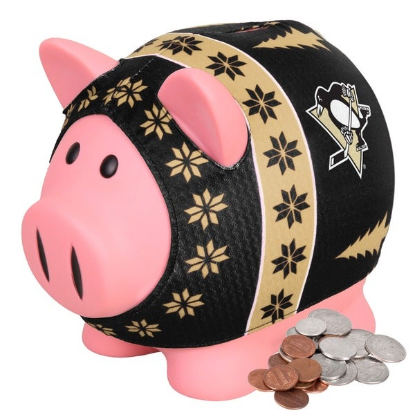 Forever Collectibles NHL Pittsburgh Penguins Ugly Sweater Piggy Bank