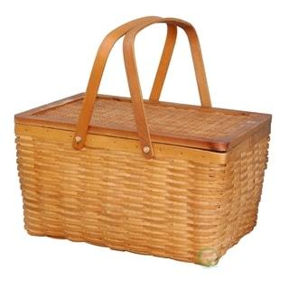 Rectangle Handwoven Woodchip Basket (LARGE)