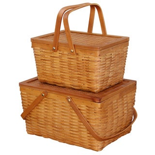 Rectangle Handwoven Woodchip Basket