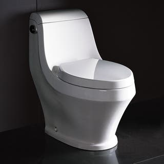 Fresca Volna Contemporary High-Efficiency White Ceramic Elongated Toilet|https://ak1.ostkcdn.com/images/products/10704940/P17764977.jpg?impolicy=medium