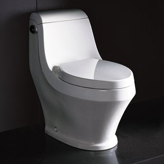 Fresca Volna Contemporary High-Efficiency White Ceramic Elongated Toilet
