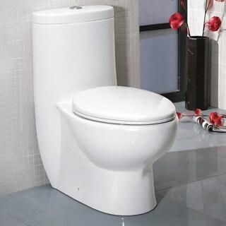 Fresca Delphinus 1-piece Dual Flush Toilet with Soft Close Seat