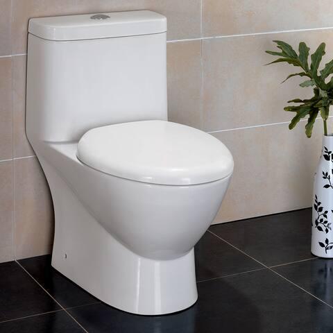 Fresca Serena 1-piece Dual Flush Toilet with Soft Close Seat