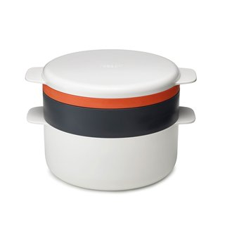 Joseph Joseph M-Cuisine 4-Piece Stackable Orange/Beige Microwave Cooking Set