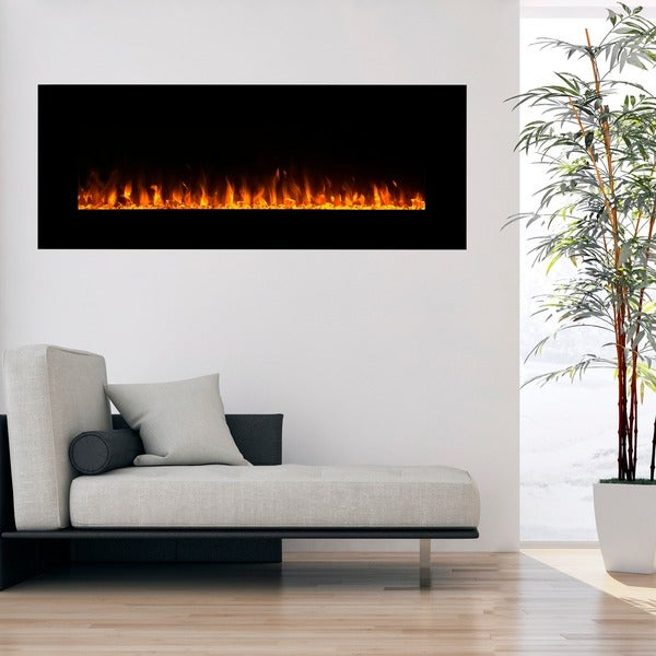Northwest  Wall-mounted 54-inch Electric Fireplace with Remote