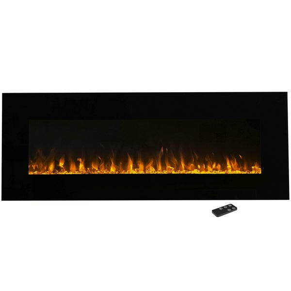 Wall Mounted LED Fire and Ice Flame 54-inch Electric Fireplace with Remote  by Northwest - Wall Mounted LED Fire And Ice Flame 54-inch Electric Fireplace