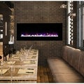 Wall Mounted LED Fire and Ice Flame 54-inch Electric Fireplace with Remote by Northwest