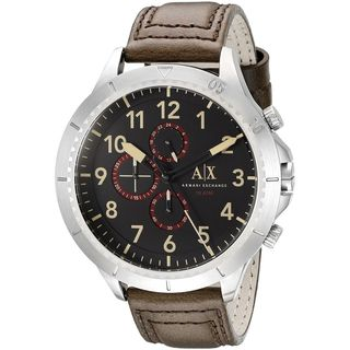 Armani Exchange Men's AX1755 'Romulous' Chronograph Brown Leather Watch