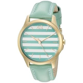 Armani Exchange Women's AX5237 'Smart' Green Leather Watch