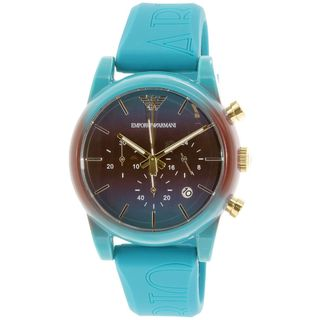 Emporio Armani Men's AR1062 'Luigi' Chronograph Blue Silicone Watch