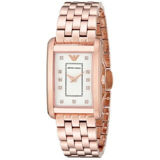 Emporio Armani Women's AR1906 'Classic' Crystal Rose-Tone Stainless Steel Watch
