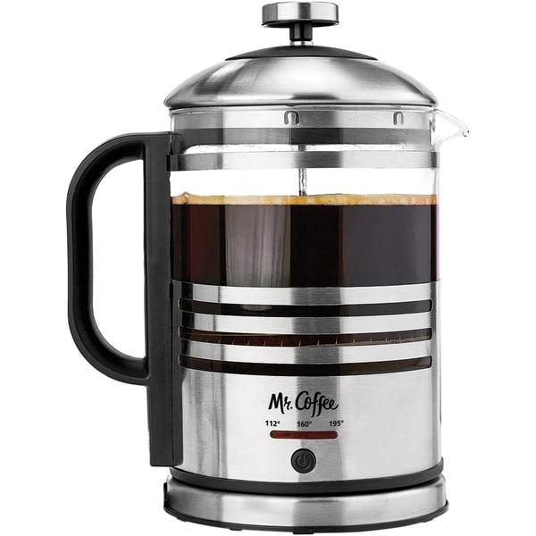 Electric French Press Coffee Maker Reviews : Mr. Coffee Electric French Press - Free Shipping Today - Overstock.com - 17765148