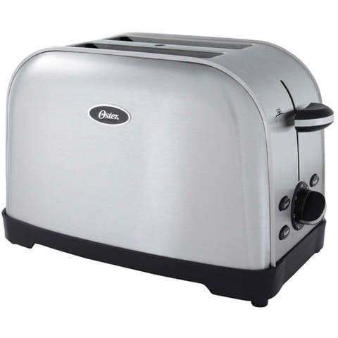Oster 2-slice Brushed Stainless Steel Toaster