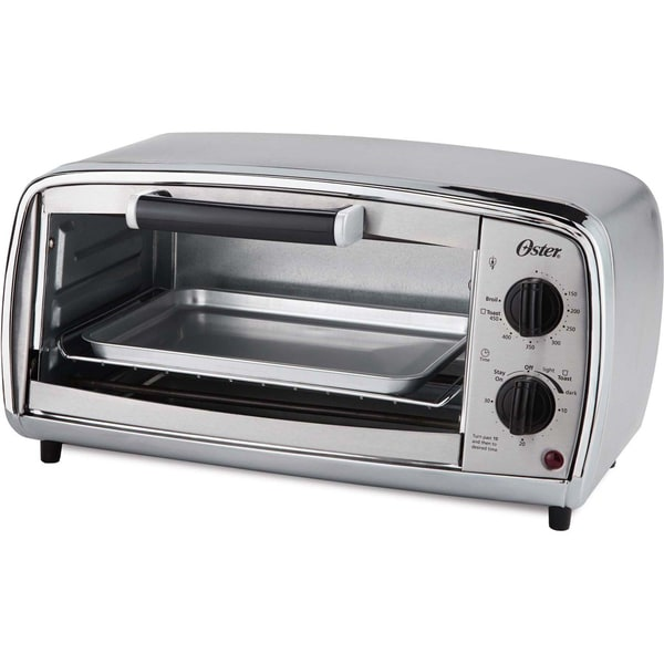 Oster Stainless Steel 4 Slice Toaster Oven Free Shipping