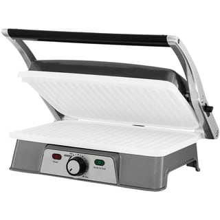 Oster DuraCeramic 2 Serving Panini Maker & Grill with Metal Accents