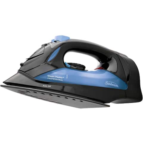 Sunbeam Steam Master Black & Blue Iron with Retractable Cord