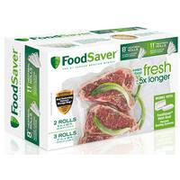 FoodSaver Combo Pack 8 x 20-inch and 11 x 16-inch Heat-seal Rolls