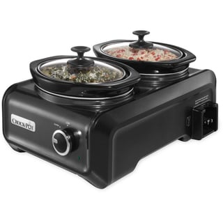 Crock-Pot Hook Up Two 1-quart Double Slow Cooker