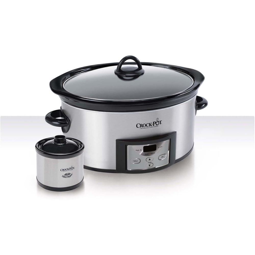 CROCK-POT 6-quart Countdown Slow Cooker with Dipper (Ston...