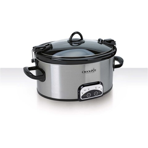 Crock Pot Stoneware 6-quart Programmable Slow Cooker with Locking lid