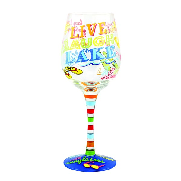 Lake Wine Glass
