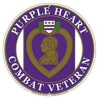 US Purple Heart Combat Veteran Wall Sign