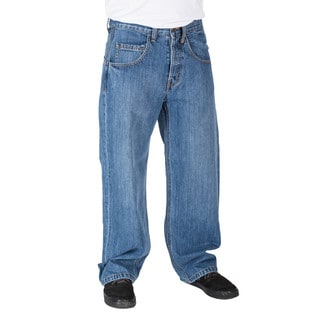 JNCO Men's Blue Jeans Stone Wash Smoke Stacks
