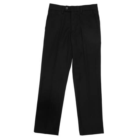 Ferrecci Boy's Premium 'Ezra' Black Regular Fit Dress Pants