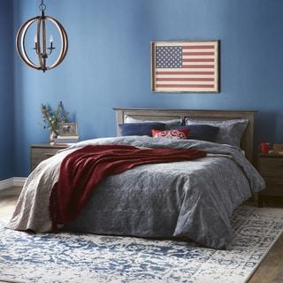 Grand Luxe Tessara Blue 3-piece Duvet Cover Set