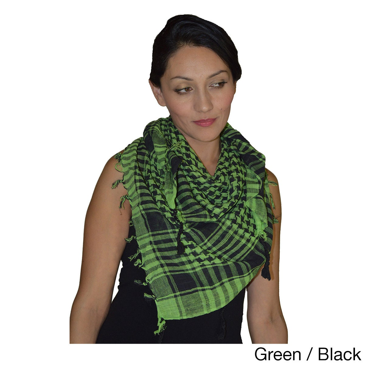 Black /& Green Red White Turquoise Purple Shemagh Kaffiyeh Scarf Shawl 5 Colours