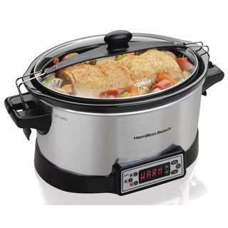 Hamilton Beach Silver Right Size Multi-Quart Programmable Slow Cooker