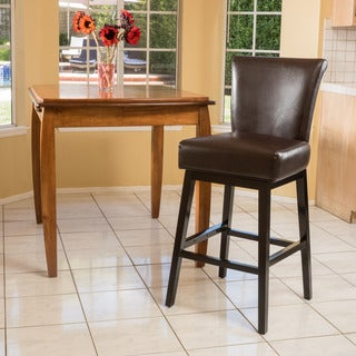Tracy Bonded Leather Swivel Barstool by Christopher Knight Home