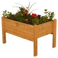 Elevated Wood Garden Bed