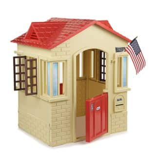 Little Tikes Tan Cape Cottage Playhouse|https://ak1.ostkcdn.com/images/products/10706280/P17765958.jpg?impolicy=medium
