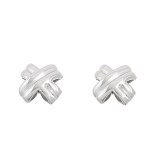"La Preciosa Sterling Silver ""X"" Stud Earrings"