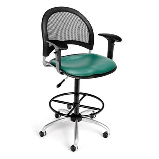 Moon Swivel Vinyl Chair with Arms and Drafting Kit