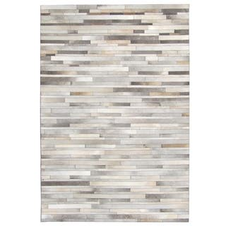Hand-stitched Grey Cow Hide Leather Rug (8' x 10')|https://ak1.ostkcdn.com/images/products/10706348/P17766067.jpg?impolicy=medium
