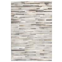 Oliver & James Sam Hand-stitched Cowhide Rug (8' x 10')