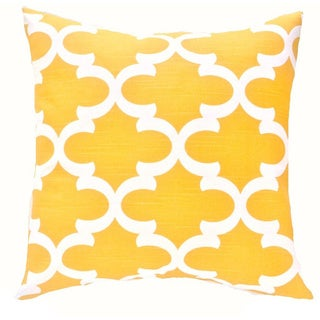 Morrocan Style 18x18 Yellow Pillow Cover