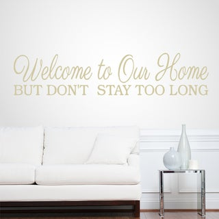 Welcome To Our Home 46-inch x 10-inch Entryway Wall Decal