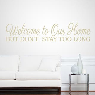 Welcome To Our Home 32-inch x 7-inch Entryway Wall Decal
