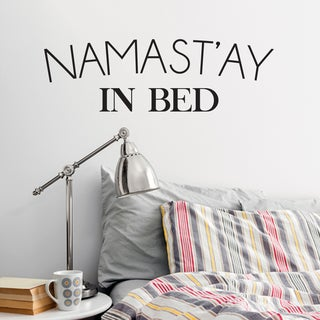 Namast'ay In Bed Wall Decal 48-inch x 16-inch