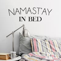 Namast'ay In Bed' 36 x 12-inch Wall Decal