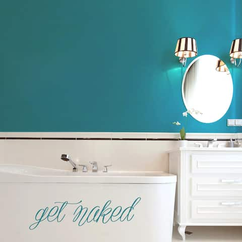 Get Naked 36-inch x 10-inch Bathroom Wall Decal