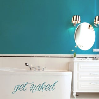 Get Naked 36-inch x 10-inch Bathroom Wall Decal (More options available)